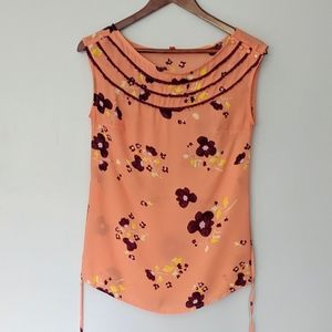 Modcloth peach floral top